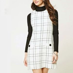 Forever 21 Boucle Tweed 70s Style Mod Mini Dress